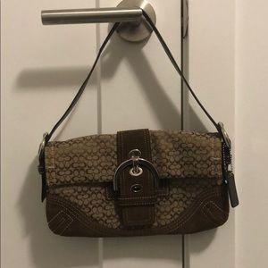 Coach Suede/Leather Shoulder Bag
